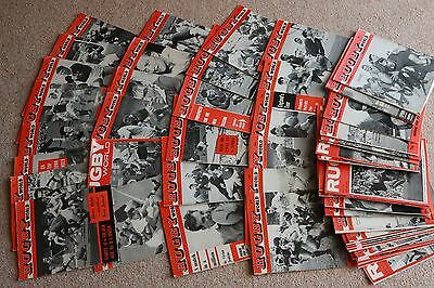 rugby world magazines from the start date of October 1960 to January 1965 plus 4