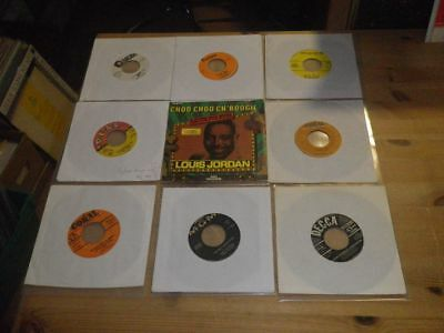 """ROCKABILLY, BLUES, N.SOUL,  etc, LOT with 9 Different 7"""" SINGLES, #45"""