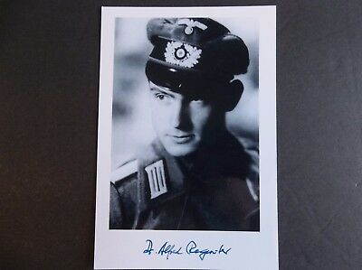 Germany Alfred Regeniter K.C. Tank Ace WW2 Autographed 4x6 Photo