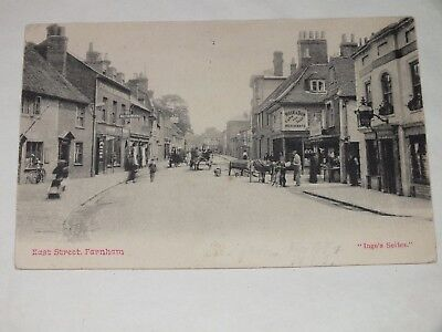 1904 Postcard INGE'S SERIES EAST STREET ROYAL DEER FARNHAM SURREY Stamp