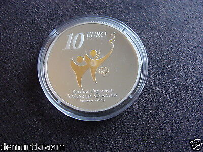 """Ierland - 10 Euro 2003 Pp """"special Olympics"""" Silber."""
