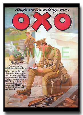 Keep on Sending Me OXO beef gravy stock WW1 framed repro poster Frank Dadd 1914