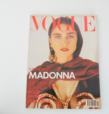 Madonna Vogue Magazine Released February 1989 Perfect Condition