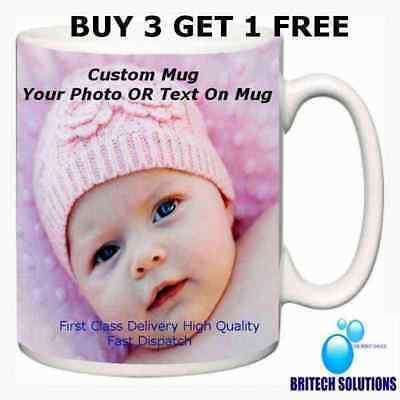 Personalised Photo Mug Cup Gift Own Text/picture Birthday Christmas Buy3 Get1Fre