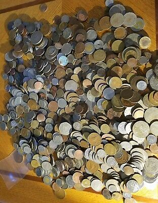 Large TEN 10 Full Pounds Lot of  World Foreign Coins 10 LB