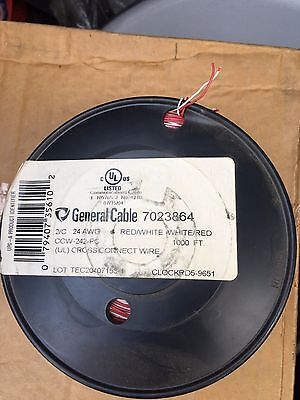 NEW Roll of General Wire cross connect 2/C 24AWG 1000' wire