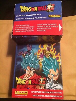 2 Boxes of Dragonball Super Stickers Panini 100 Packs
