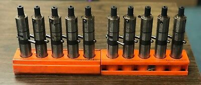 Lot of 5 System 3R Electrode Holders 20mm Shank with Plastic Holder