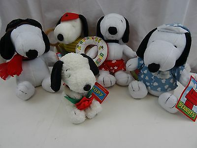 Snoopy/Peanuts 5 Plush/Soft/Toy Bundle 17-21 cms 4 With Tags