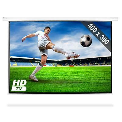 """200"""" ELECTRIC MOTORISED HOME CINEMA VIDEO PROJECTION SCREEN HD TV  LCD 4:3 Large"""