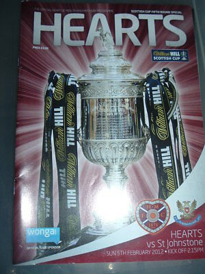 Hearts v St Johnstone Feb 2012 Scottish Cup