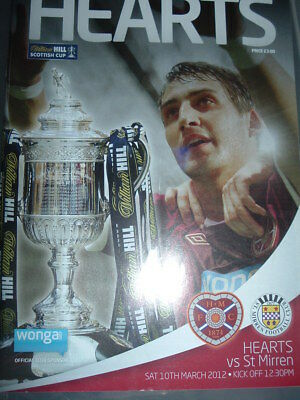 Hearts v St Mirren March 2012 Scottish Cup