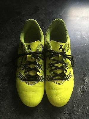 Adidas Plastic Studs Blades Football Boots Uk Size 4 Yellow And Black
