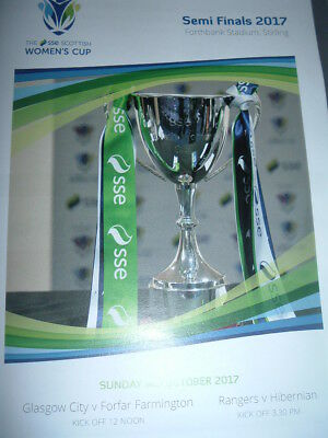Scottish Ladies Cup Semi Finals Hibernian v Rangers Forfar v Glasgow City