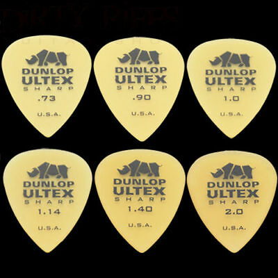 Dunlop 433R Ultex Sharp Guitar Picks Plectrums - All Guages - Pack of 12