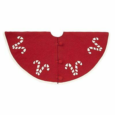 Candy Cane CHRISTMAS TREE SKIRT 100% Wool by ARCADIA HOME