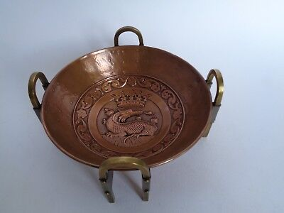 Rare Arts & Crafts Copper And Brass Dish With Dragon 1890 No Reserve Price