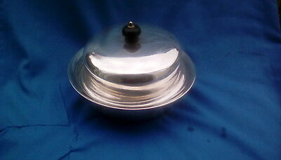 Silver Plate  Antique 3 Piece Lidded Muffin Serving Dish By James Dixon