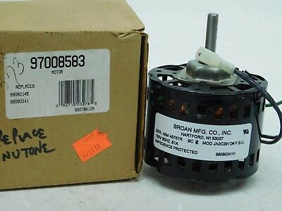 NEW Broan 360 Replacement Fan Motor # 97008583 1200 RPM, .7 amps, 120 Volts (AP)