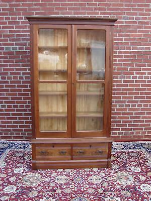 Antique Victorian Walnut Adustable Shelf Bookcase With Owl Pulls