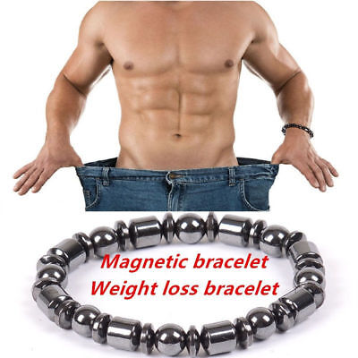 1PC Weight Loss Round Black Stone Magnetic Therapy Bracelet Health Care Noble RW