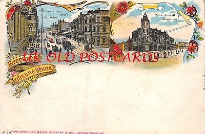 South Africa -  Greetings from JOHANNESBURG, Early Card by Sallo Epstein & Co