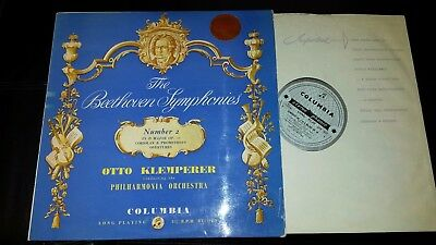 SAX 2331 Beethoven SYMPHONY No.2 Klemperer  1st PRESS UK COLUMBIA B/S EX/EX+