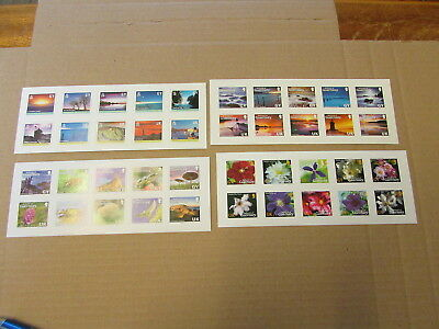 Guernsey  Stamps - 4 Different Sets Of 10 - Self Adhesive Stamps - Uk And Gy