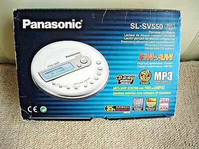 Quality Panasonic SL-SV550 Portable CD-MP3 Player/FM-AM Radio *Made in Japan*