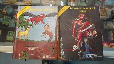 Two Vintage Dungeon And Dragons Manuals Monster Manual, Dungeon Masters Guide