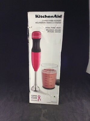KitchenAid Immersion Hand Blender 2-Speed Blending Small Kitchen Appliance Pink