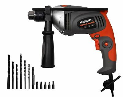 Terratek 1050W Heavy Duty Diy Compact Corded Hammer Drill 240V Keyed Chuck