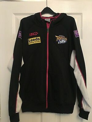 Leeds Rhinos ISC Hooded Top Large excellent condition