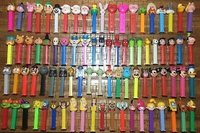 Pez dispensers huge lot rare 83 in preowned condition vintage vtg toys