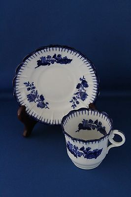 Antique Flow Blue And White Copeland Spode Cup And Saucer