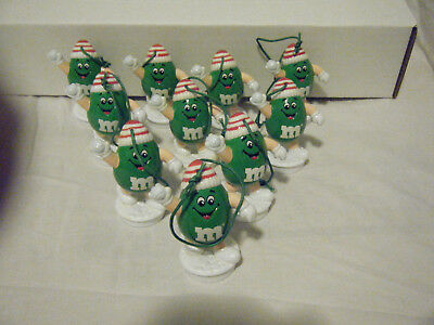 TOPPERS m&m CHRISTMAS HOLIDAY LOT of 10 Figure ORNAMENTS