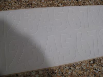 football helmet decals Pittsburgh Steelers number sheet 0-9 2 times as pictured