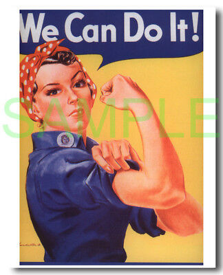 We Can Do It! framed repro poster WW2 Rosie the Riveter J. Howard Miller
