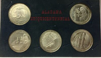 1819-1969 Alabama Sesquicentennial Sterling Silver Proof 5 Coin Set