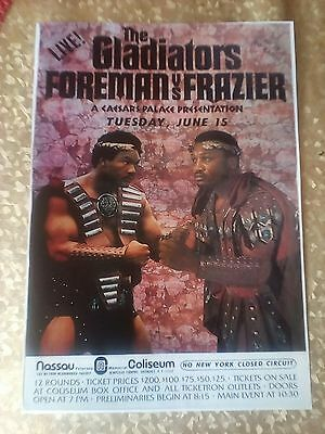 GEORGE FOREMAN Vs JOE FRAZIER, 11x8 FIGHT POSTER