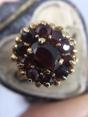 Antique Victorian Heavy Extra Large Yellow Gold Garnet Claw Ring