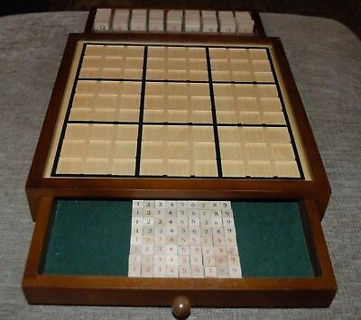Bits and Pieces Deluxe  Wooden Sudoku Game Board Comes With Booklet of 100 Games