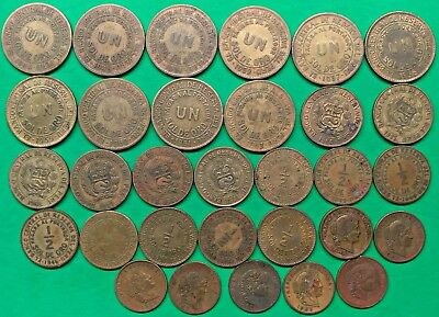 Lot of 31 Different Old Peru Coins 1935-1971 Vintage South America !! B