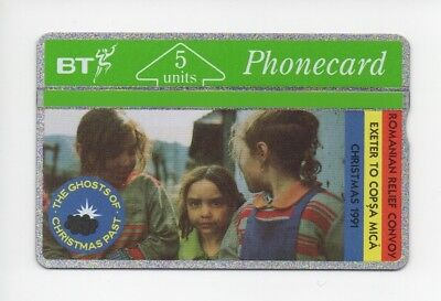 BT Phonecard BTG018, Ghosts of Christmas Past, Romanian Relief, mint unused