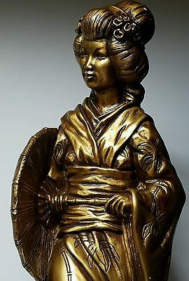 "Beautiful 22"" Tall Japanese Geisha Statue 1960s by Universal Statuary Corp #2"