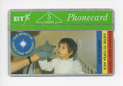 BT Phonecard BTG019, Ghosts of Christmas Present, Romanian Relief, mint unused