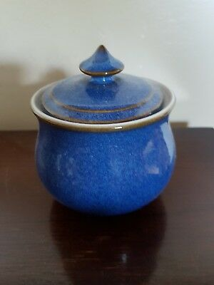 Denby Imperial Blue sugar pot