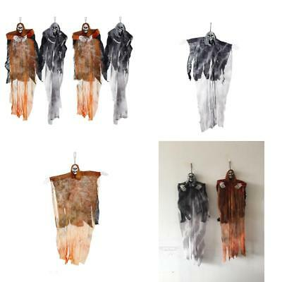 Hanging Halloween Decoration - Realistic Floating Ghoul Ghost Skeleton Face - 4