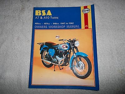 Bsa A7 And A10 Haynes Workshop Manual