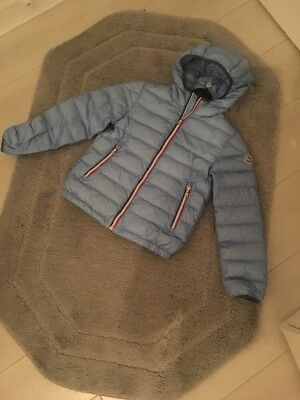 Boys Baby Blue Moncler Coat Feather Down Good Must C Age 10